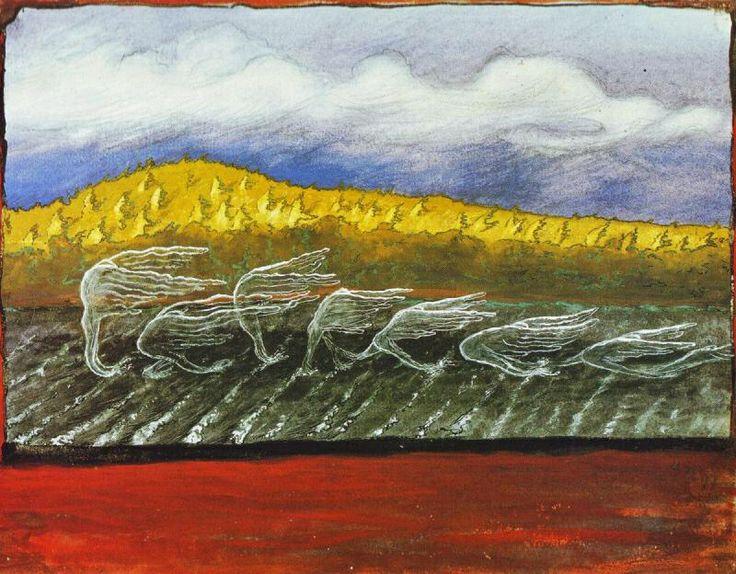 """The Wind Blows"", Hugo Simberg (1897) Finnish artist"