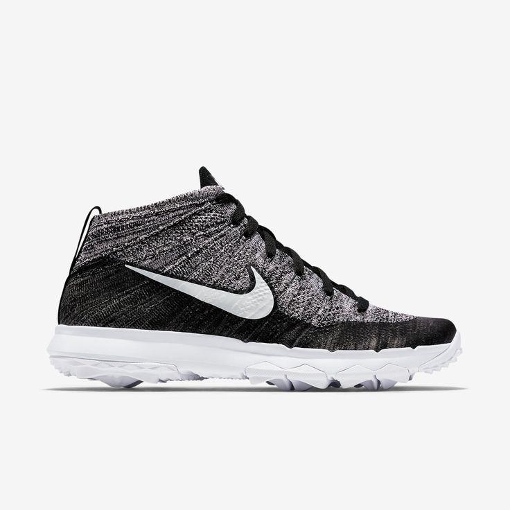 Nike FlyKnit Chukka Golf Shoe - Black/White