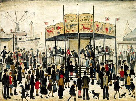 A fairground, Lowry