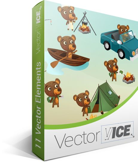 Bear Vector Pack - download here: http://vectorvice.com/bear-vector-pack.html
