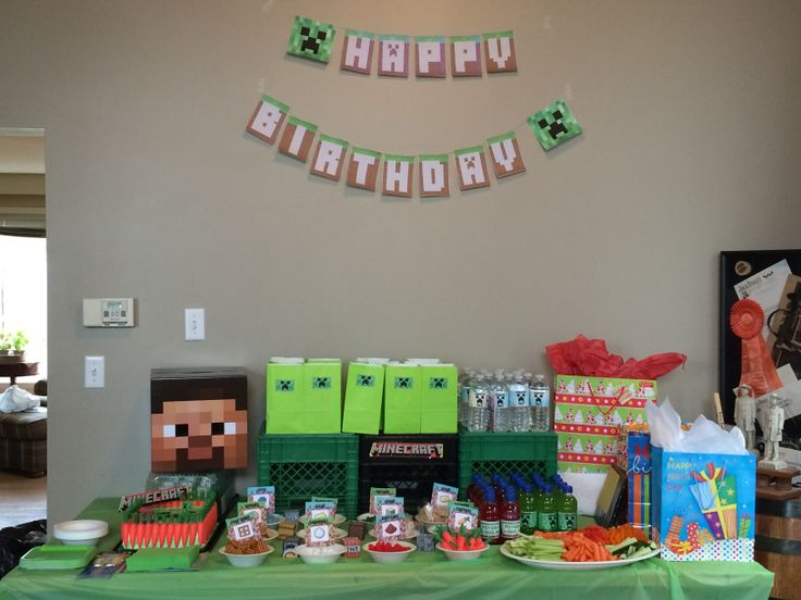 Party Set up - lots of easy crafts.