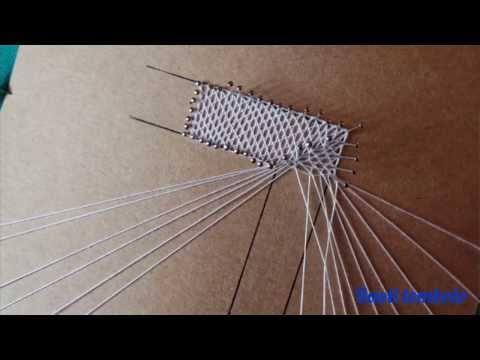 Merletto a Tombolo - incrocio tra due cordette con pippiolini - YouTube