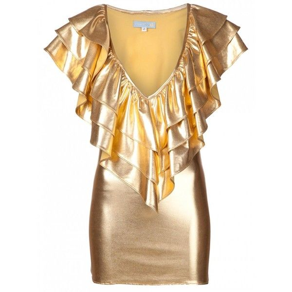Julia Clancey Victory Dress Gold (26945 RSD) ❤ liked on Polyvore featuring julia clancey