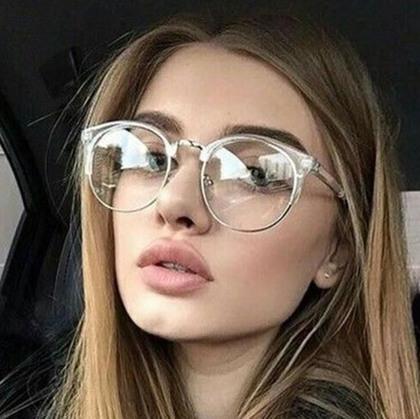 7d177ce6b750 2018 Women Glasses Frame Men Eyeglasses Frame Vintage Round Clear Lens  Glasses Optical Spectacle Frame