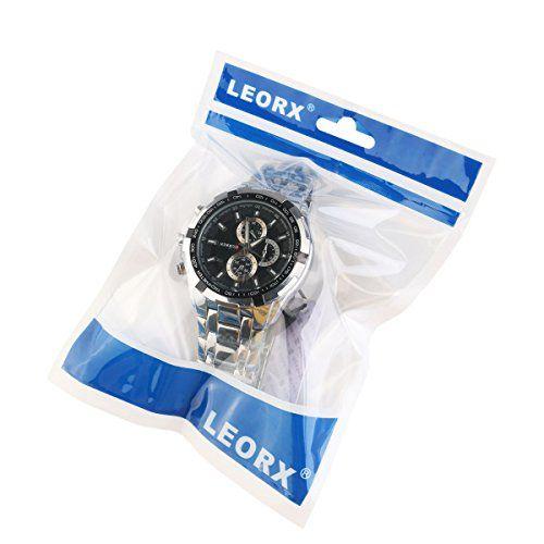 Mecanismo de cuarzo LEORX CURREN reloj para hombre con caja de acero inoxidable para cualquier reloj de pulsera resistente al agua