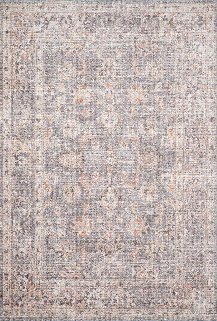 Loloi Ii Skye Sky 01 Grey Apricot Area Rug Rugs On Carpet Rugs Vintage Area Rugs