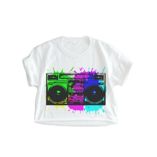 BOOMBOX, 80's 90's, Crop top, Hip hop shirt, Rap shirt, Streetwear,... ($18) ❤ liked on Polyvore featuring tops, plus size shirts, 1980s t shirts, shirt crop top, plus size crop tops and 80s crop top