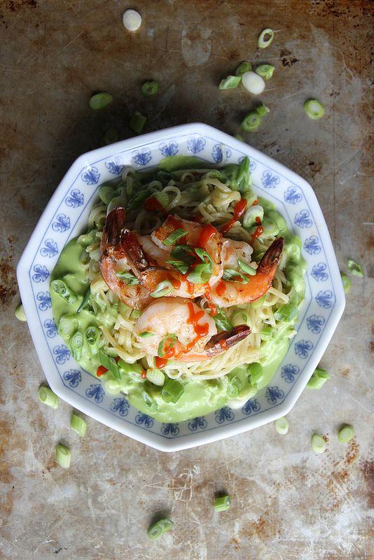 Stir Fried Rice Noodles with Shrimp and Green Onion Vinaigrette | Rec ...