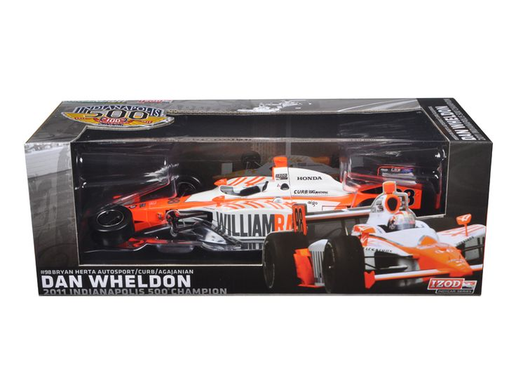 2011 Dan Wheldon #98 Bryan Herta Autosport Indy 500 Winner Car Tribute Edition Packaging 1/18 Diecast Model Car by Greenlight - Brand new 1:18 scale diecast model car of 2011 Dan Wheldon #98 Bryan Herta Autosport Indy 500 Winner Car Tribute Edition Packaging die cast model car by Greenlight. Limited Edition. Metal Body and Chassis. Real Rubber Tires. Has an opening engine compartment. Collector Window Box Package. Officially Licensed by Indycar and EXCLUSIVE to the collector market…