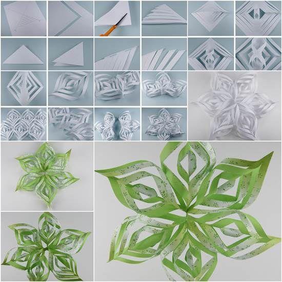 How to DIY Beautiful Paper Snowflake | iCreativeIdeas.com Follow Us on Facebook --> https://www.facebook.com/iCreativeIdeas