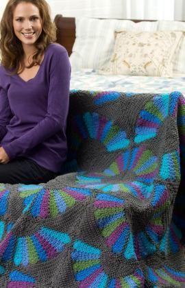 Fandango Throw Free Crochet Pattern from Red Heart Yarns