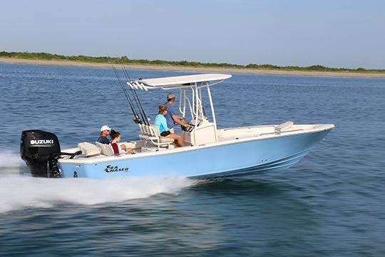 Snorkeling, cruising, beach combing, wildlife viewing, and fishing. The Sea Chaser 26 LX by Carolina Skiff is rigged and ready to do it all. When summer fun combines all of the above activities, this boat will easily make your short list of choices for an all-purpose center console boat.