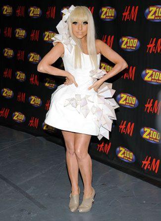 Lady Gaga in White #YarisLadyGaga