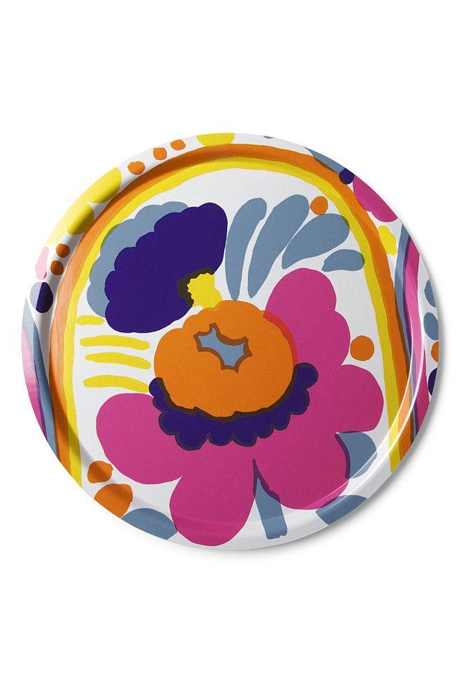 """Marimekko Karuselli 18"""" Round Tray"""