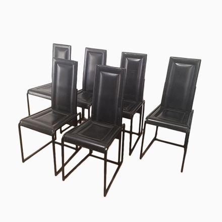 Schwarze Leder Esszimmerstühle, 6er Set Jetzt Bestellen Unter:  Https://moebel.ladendirekt.de/kueche Und Esszimmer/stuehle Und Hocker/esszimmerstuehle/?uidu003d  ...
