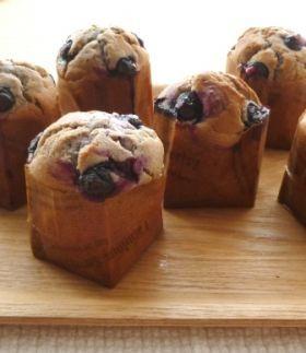 「米粉のふわふわブルーベリーマフィン」わちっこ   お菓子・パンのレシピや作り方【corecle*コレクル】