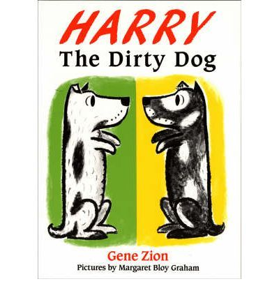 Harry the Dirty Dog by Gene Zion and illustrated by Margaret Bloy Graham.  One of my all time favourites! Harry the white dog with black patches runs away from having a bath. But outside away from home he gets so dirty he changes to a black dog with white patches. Oh oh..... will he have to have a bath so that his family recognises him again?