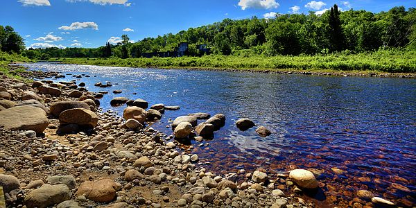 The Rocky Shore of the Moose River at the site of the old pulp mill - McKeever, NY. #Adirondacks #ADK
