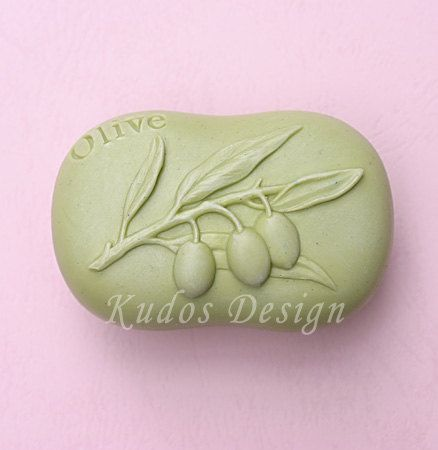 soap mold silicone soap mold FL024 Olive Kudos Design by Kudosoap, $14.00