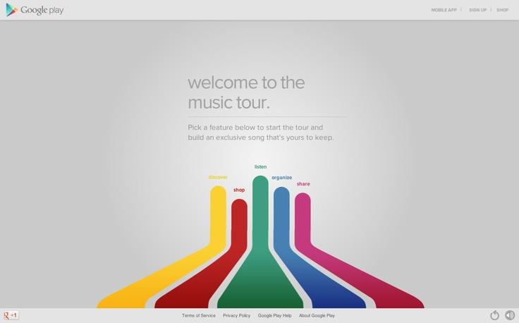 Google music tour - high impact animation