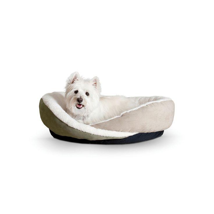 KandH Huggy Nest Large Pet Bed - 30'' x 36'', Green
