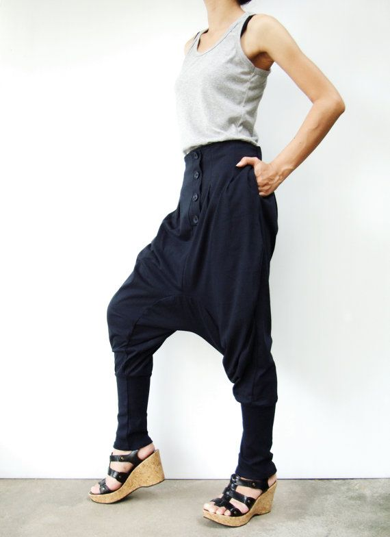 NO.64   Midnight Blue CottonBlend Casual Baggy by JoozieCotton, $44.00