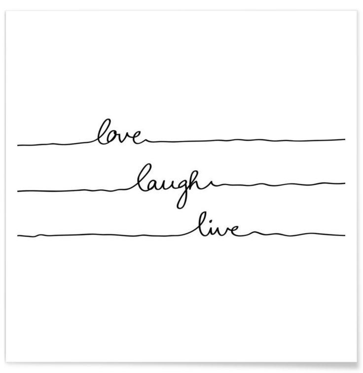Love Laugh Live als Premium Poster von Mareike Böhmer | JUNIQE