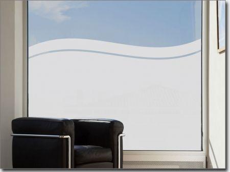 Sichtschutz Welle | Milchglasaufkleber fürs Fenster