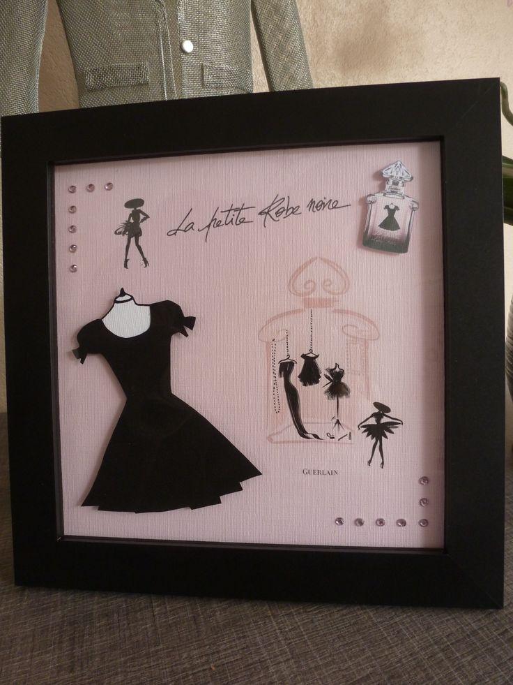 La petite robe noire de Guerlain - Carte 3D format 20X20 mise sous cadre