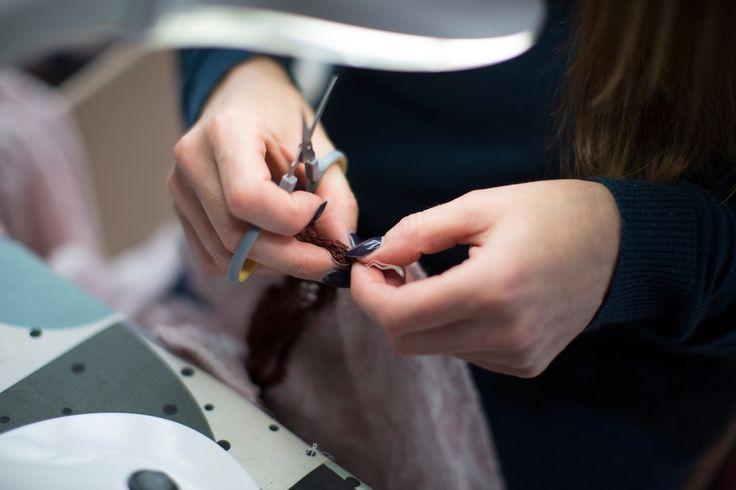The final touches | McKernan Woollen Mills | Handmade scarves | Handmade in Ireland | Irish Design | Weaving | Knitting | Contemporary accessories