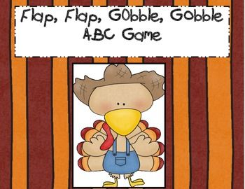 A fun Thanksgiving letter recognition game.