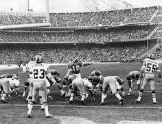 Old Metropolitan Stadium Vikings - QB F. Tarkenton #10, in a 1976 playoff game against Washington.