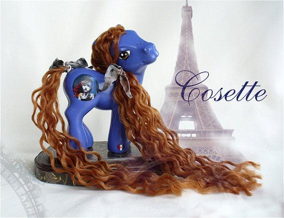 My Little Pony LES MISERABLES custom -- OOAK -- Cosette -- Les Mis