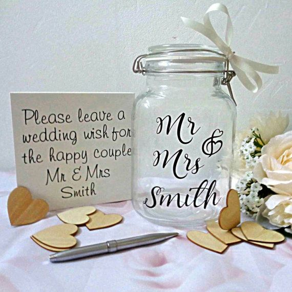 Check out this item in my Etsy shop https://www.etsy.com/uk/listing/491924340/wedding-jar-jar-of-hearts-wedding-guest