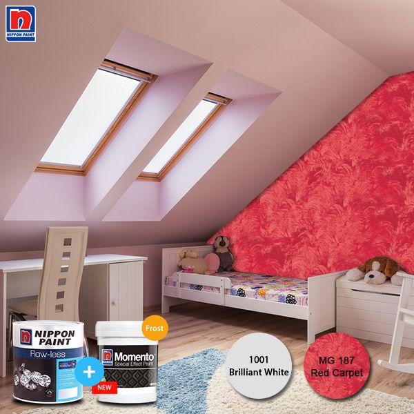 Dinding terlalu polos karena warnanya yang monoton? Ubah sudut dinding kamar dengan tekstur dari Nippon Momento. Menjadikan kamar terlihat simple namun tetap nyaman. Lihat variasi cat Nippon Momento lainnya di http://bit.ly/nippon-momento-special-effect-paint  #ImajinasiTanpaKompromi #WarnaWarniLebaran