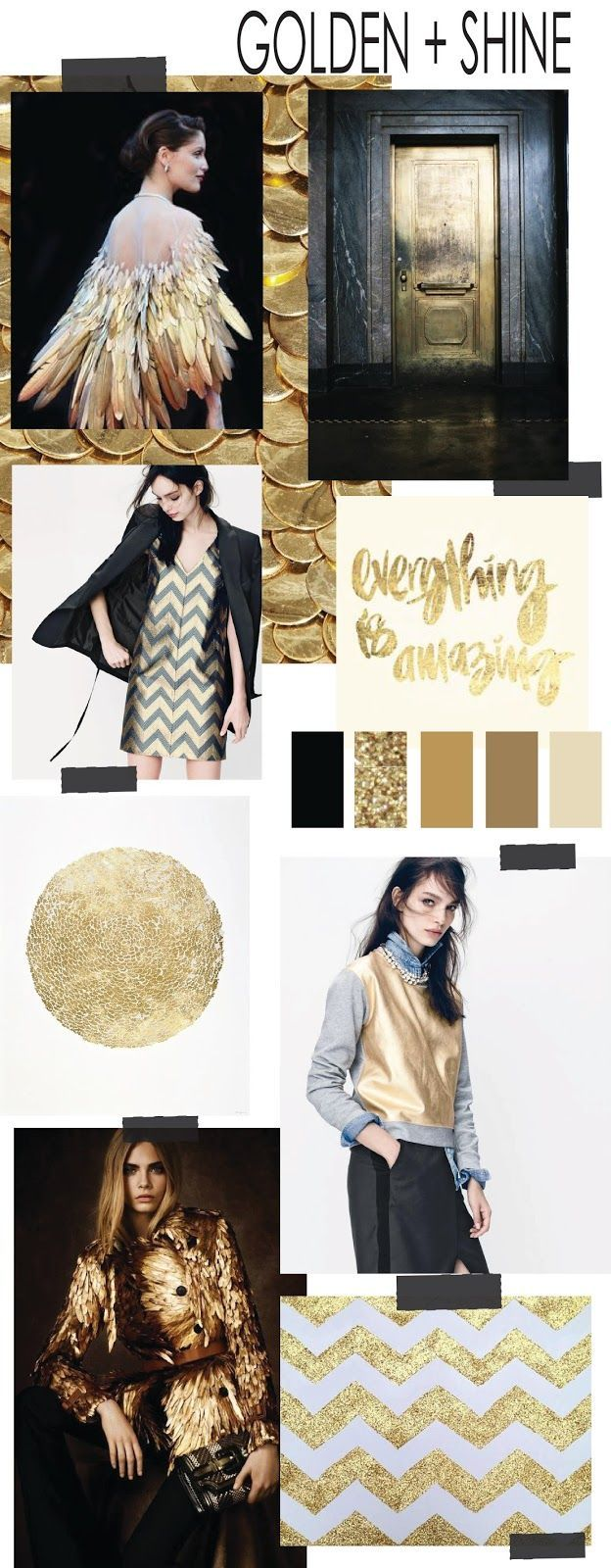 TRENDSPIRATION // GOLDEN + SHINE (FASHION VIGNETTE)