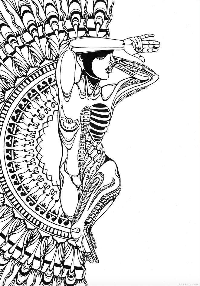 Biomechanic Biomechanical Scifi Science Fiction Mandala