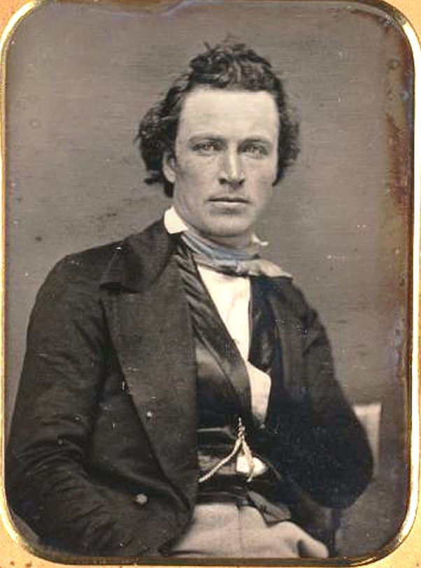 James Stark, early Californian actor, gold speculator and brilliant personality. c. 1850. (Bancroft Library).