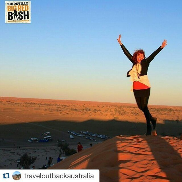 #Repost @traveloutbackaustralia - we are excited for the 2016 Big Red Bash!  The Birdsville Big Red Bash is 3 days and nights of music with iconic #australian artists set in an iconic location on the edge of the Simpson Desert. The stage backdrop is #bigred and for all you #outback travellers it doesn't get any better than this.  It's on 4-6th July 2016 at Big Red just outside #birdsville QLD.  If you want to rock the #simpsondesert then you'd better book soon. Camping is provided onsite and…