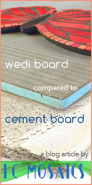 Choosing the right substrate for your mosaic is critical to its longevity. Read about cement board and wedi board to be able to choose the right one for your project.