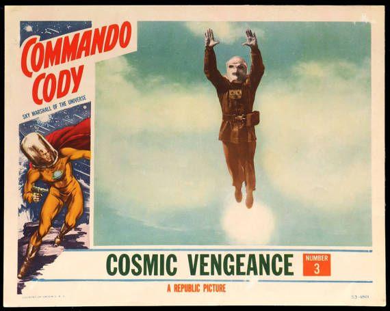 COMMANDO CODY original 1953 lobby card Rocket Man