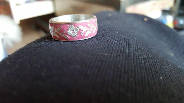 handmade flower design glow in the dark ring