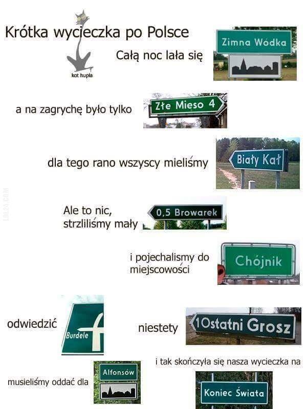 Wycieczka po Polsce #wycieczka #po #polsce Zabawne nazwy miejscowości