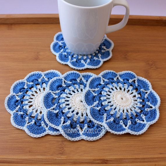 17 Best Images About Crochet Patterns Coasters On Pinterest Shabby Chic Decor Crochet