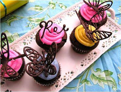 Me Encanta el Chocolate: CUPCAKES PARA MAMA EN SU DIA