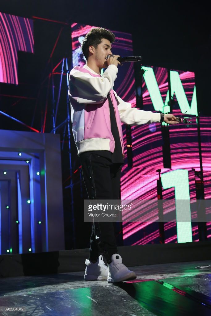 Mario Bautista speaks on stage during the MTV MIAW Awards 2017 at Palacio de Los Deportes on June 3, 2017 in Mexico City, Mexico.