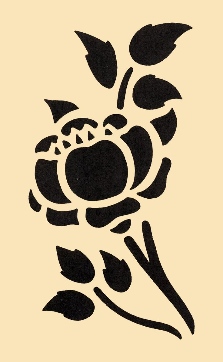 Pochoir fleur gratuit a imprimer fashion designs - Pochoir mural fee ...