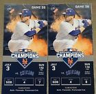 #Ticket  New York Mets Tickets 7/3 Vs Chicago Cubs 2 Tickets Cespedes Compression Sleeve #deals_us
