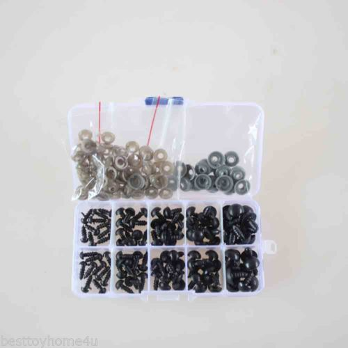 100pcs-6-12mm-Black-Plastic-Safety-Eyes-For-Teddy-Bear-Doll-Animal-Puppet-Crafts