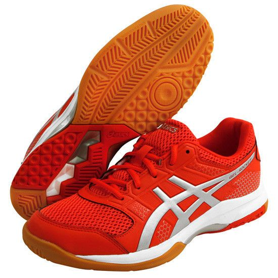 b85f5e6b64b ASICS Gel-Rocket 8 Men's Badminton Shoes Orange Indoor Shoe NWT ...